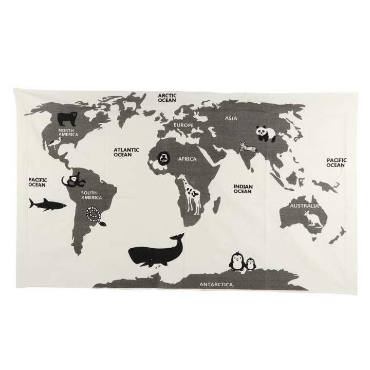 Multifunctional Animal Pattern Baby Kids World Map Game Mat Blanket Crawling Carpet Playing Mat