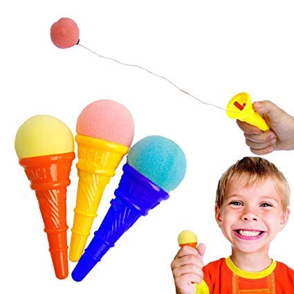 Pack of 2 / Ice Cream Punch Cone Shooter Game Toys for kids / Ice Cream Toy  / Multi Color