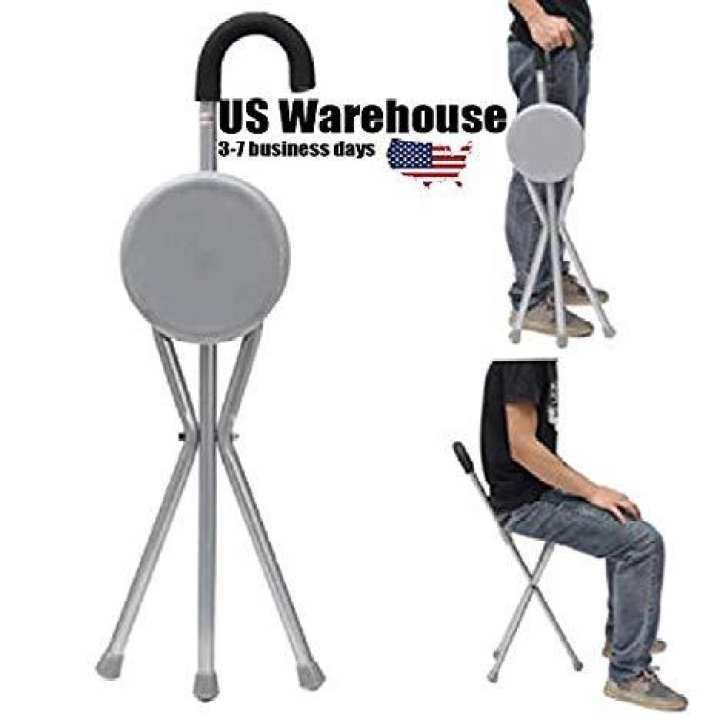 Eurohike Folding Stool Chair - Tripod Walking Stick Seat