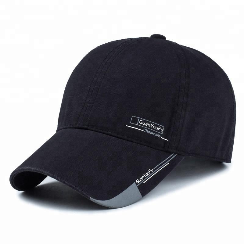 eb412cdd1 Trendy Black NY Baseball Cap For Boys - Plain Fitted Cap for Men - Sports  Cotton