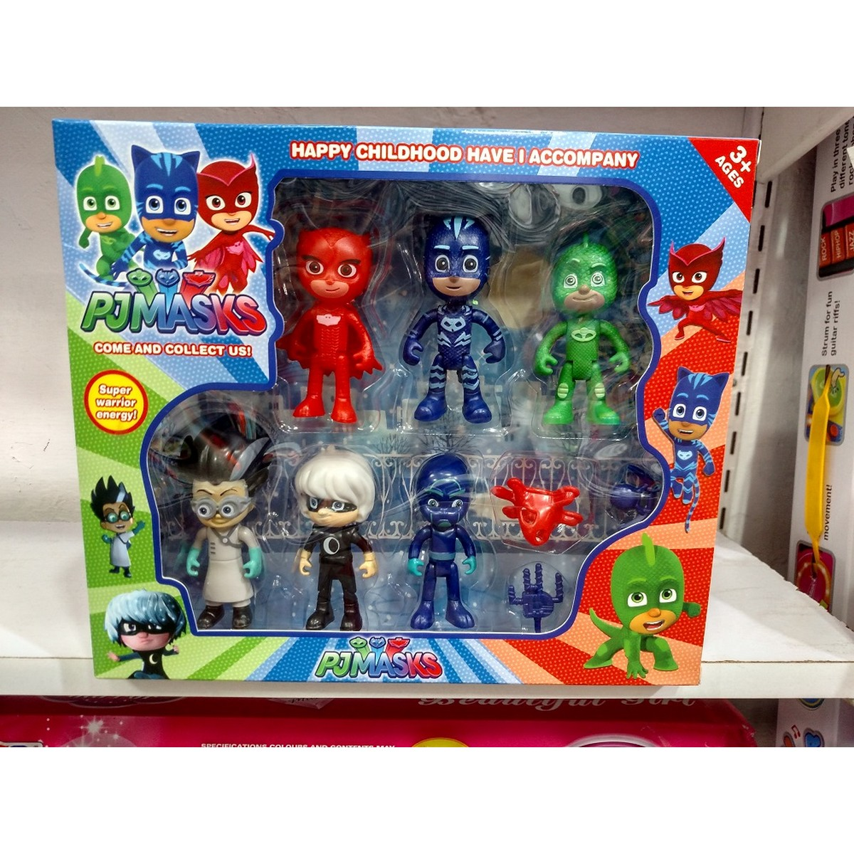 PJ Masks 6 Action Figures and Accessories Set – 4 inches