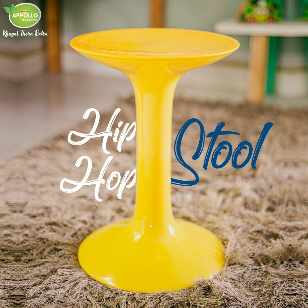 Appollo Hip Hop Stool (12.3inch x 12.3inch x 17.4inch)