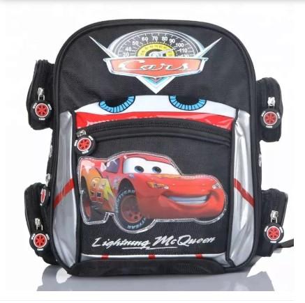Cartoon Car School Bags Boys Orthopedic Backpack