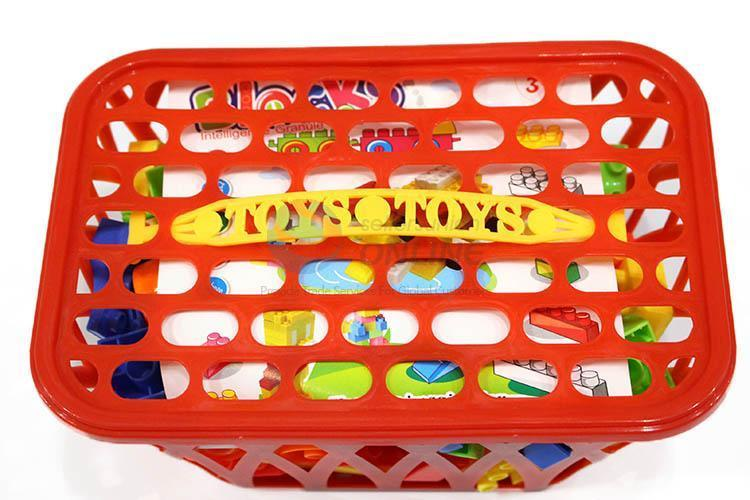 Building Blocks Toys For Kids With Basket - 80 Pcs