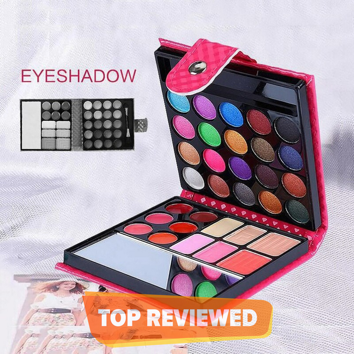 Professional Makeup Kit Eyeshadow Palette Lip Gloss Blush Concealer All in One Makeup Kit - 20 Eyeshadow, 6 Lip Glosses, 3 Blushers, 2 Powder, 1 Concealer, 1 Mirror, 1 Brush, Make Up Gift Set for Teen Girls, Beginners And Pros