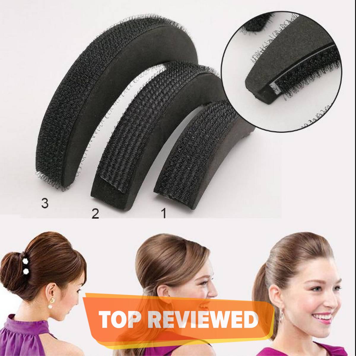3Pcs/set Hair Pads Hair Volume Increase Puff Hair Bun Maker Donut Magic Foam Sponge Bump Up Insert Base Hair Accessories
