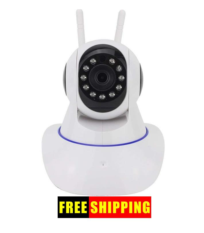 Ip Wireless Wifi Camera (free Delivery) - Rotating - Smartphone App Operated - Night Vision -
