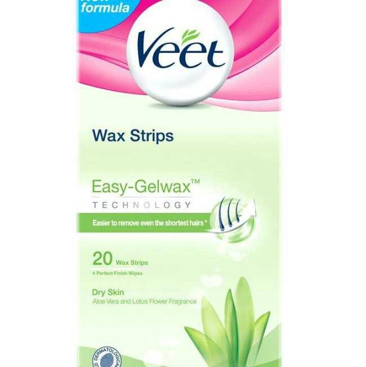 Veet waxing strips sensitive skin 20 strips