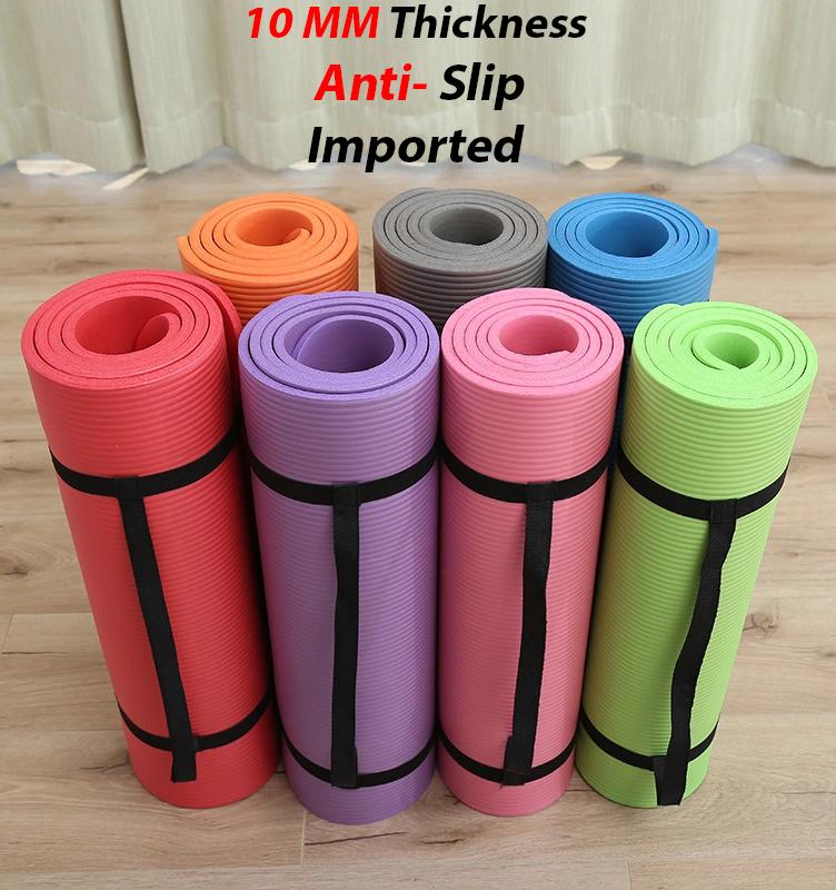 Anti Slip Yoga Mat For Exercise 10MM thickness yoga mats 173cm x 63cm