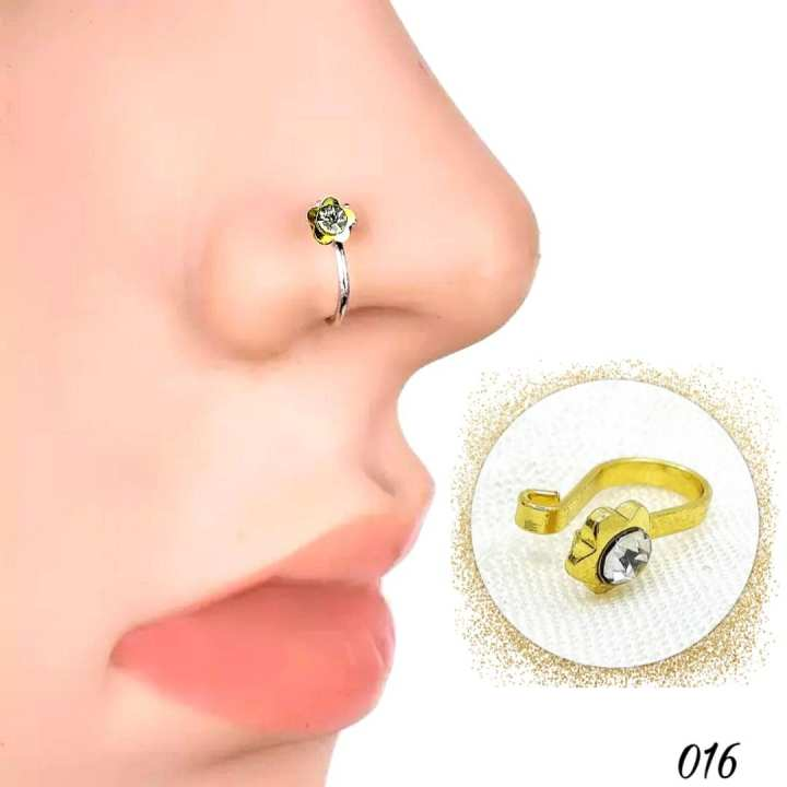 Gold Plated Clip Nose Pin