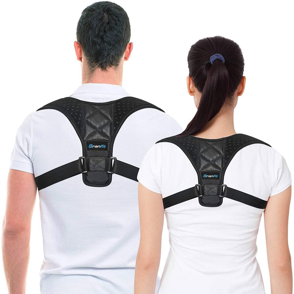 Bin Amna - Posture Corrector Belt Adjustable - Back Pain Relief Shoulder Back Support Belt Adjustable Body Posture Corrector for men and women - Back Support Brace