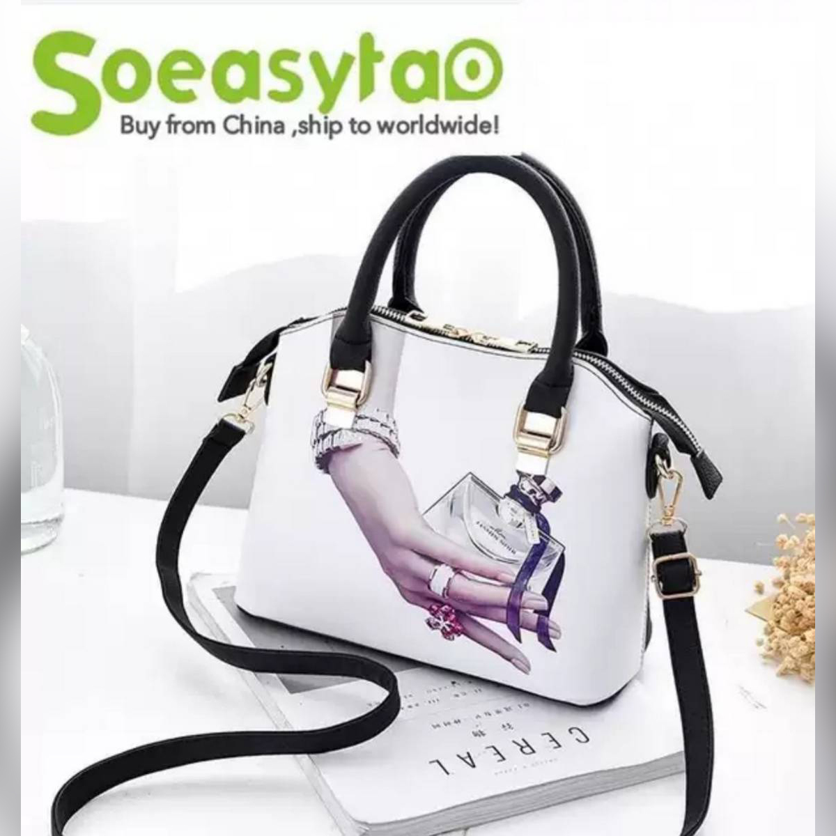 Ayesha Purse Women Handbag Fashion Style Female Painted Shoulder Bags Flower Pattern Messenger Bags Leather Casual Tote Evening Bag PP-840