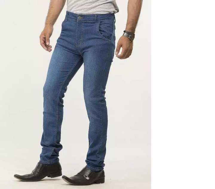 Dark Blue Stretchable Jeans For Men