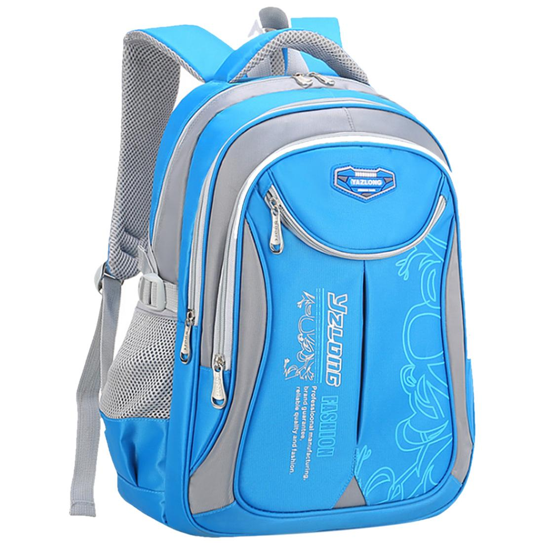 7178377acef1 Children Schoolbag Spinal Protective Backpack for Grade 3-6 Students - Blue  + Light Grey