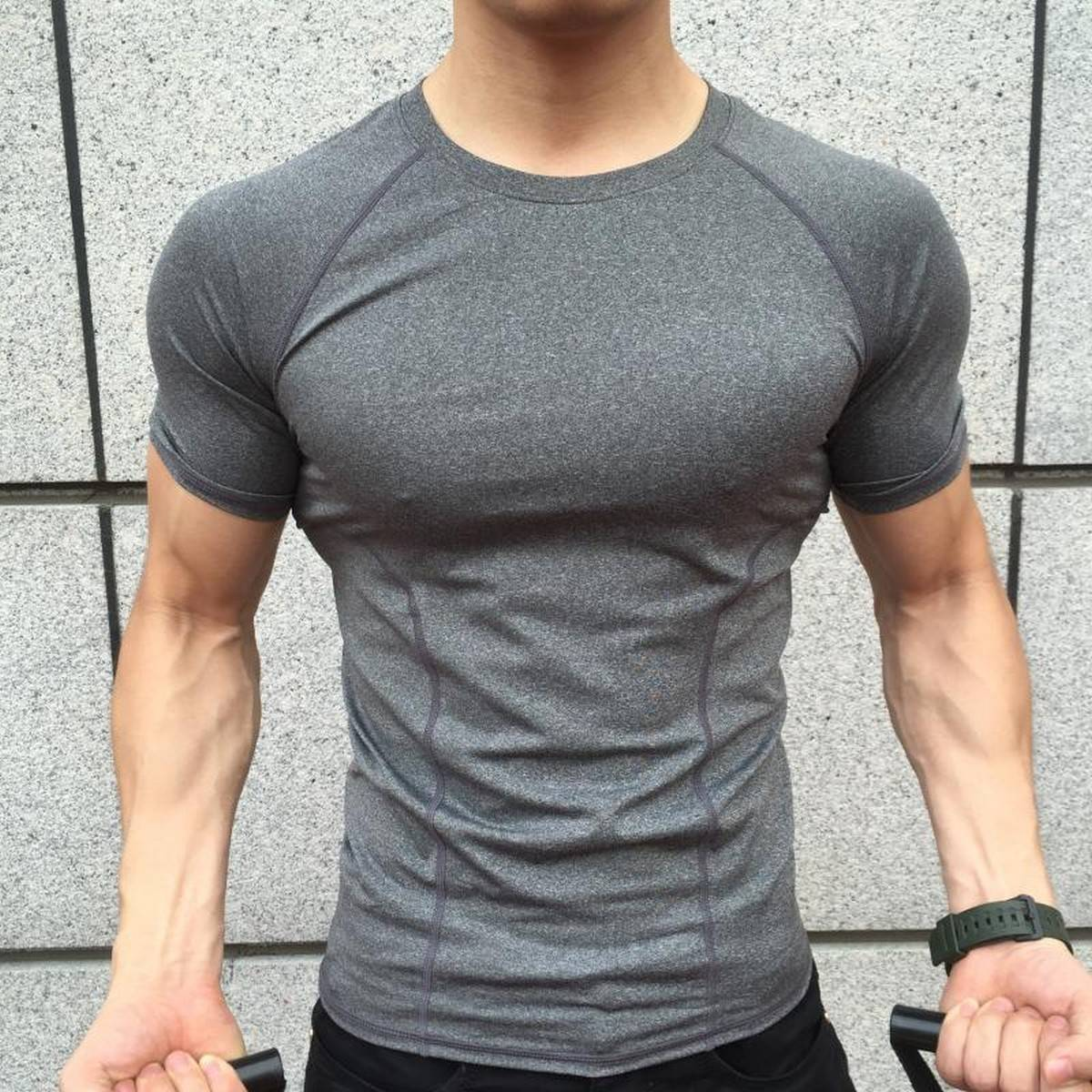 T-Shirt Stretchable Imported Quality Gym Workout Shirt for Boys Casual T-Shirts - Short Sleeves T Shirts for Man Round Neck Shirts - Casual Tops - O-Shaped Haif Sleeves Tee Shirts 100% Cotton T-Shirts - Sports t-Shirts for Adults