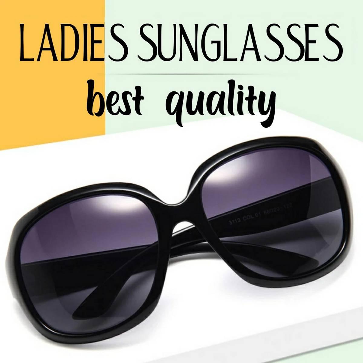 Sunglasses Women  Sun Glasses Luxury Travel Black colour