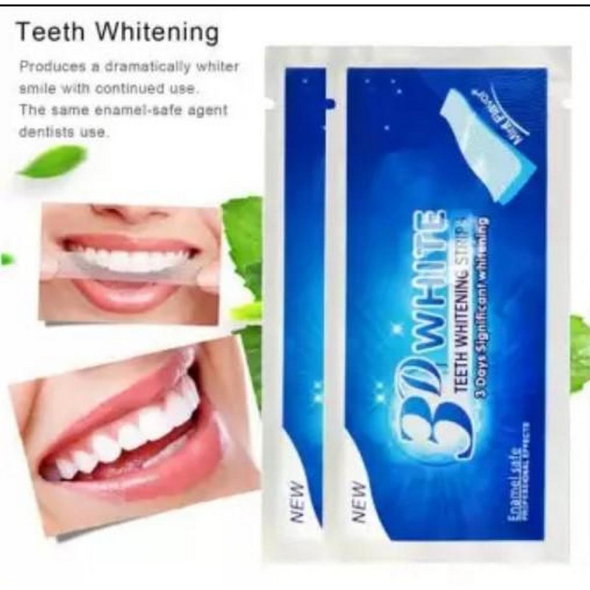 3D White Gel Teeth Whitening Strips