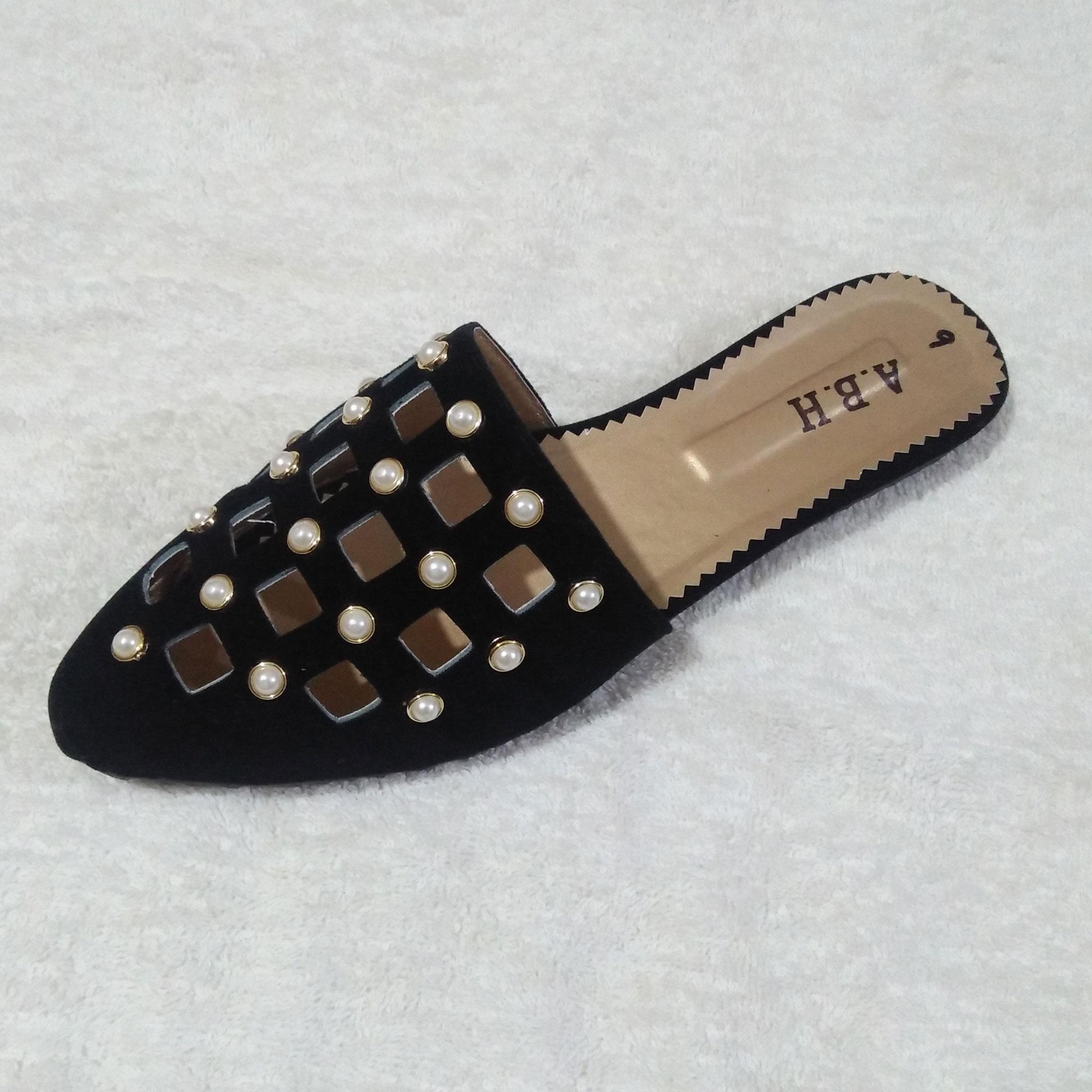 98070ff620801 Black Imported Bounty Stone Slipper For Women
