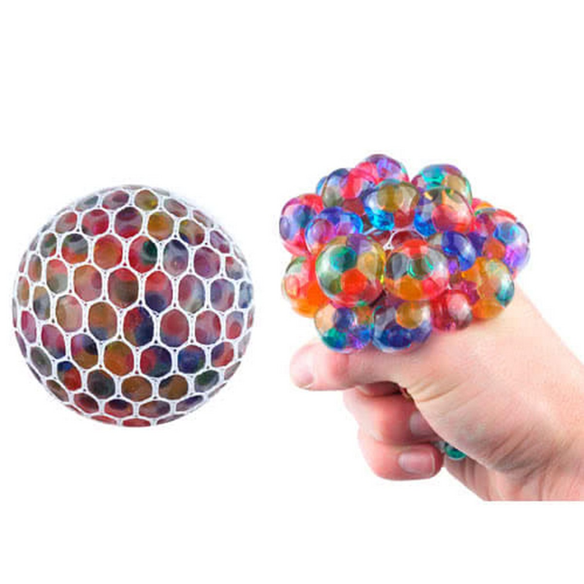 Magic Colour Changeable Grape Mesh Squish Ball Stress Release Toy Squeezing Rubber Vent Grape Ball, Hand Wrist Toy