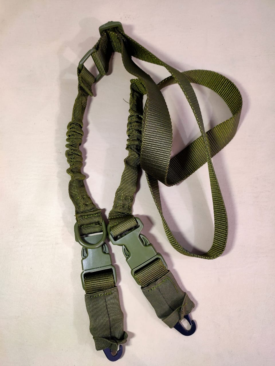 Two Point Imported sling with Metal hooks For AKM M4 Ar15 Army Green Color