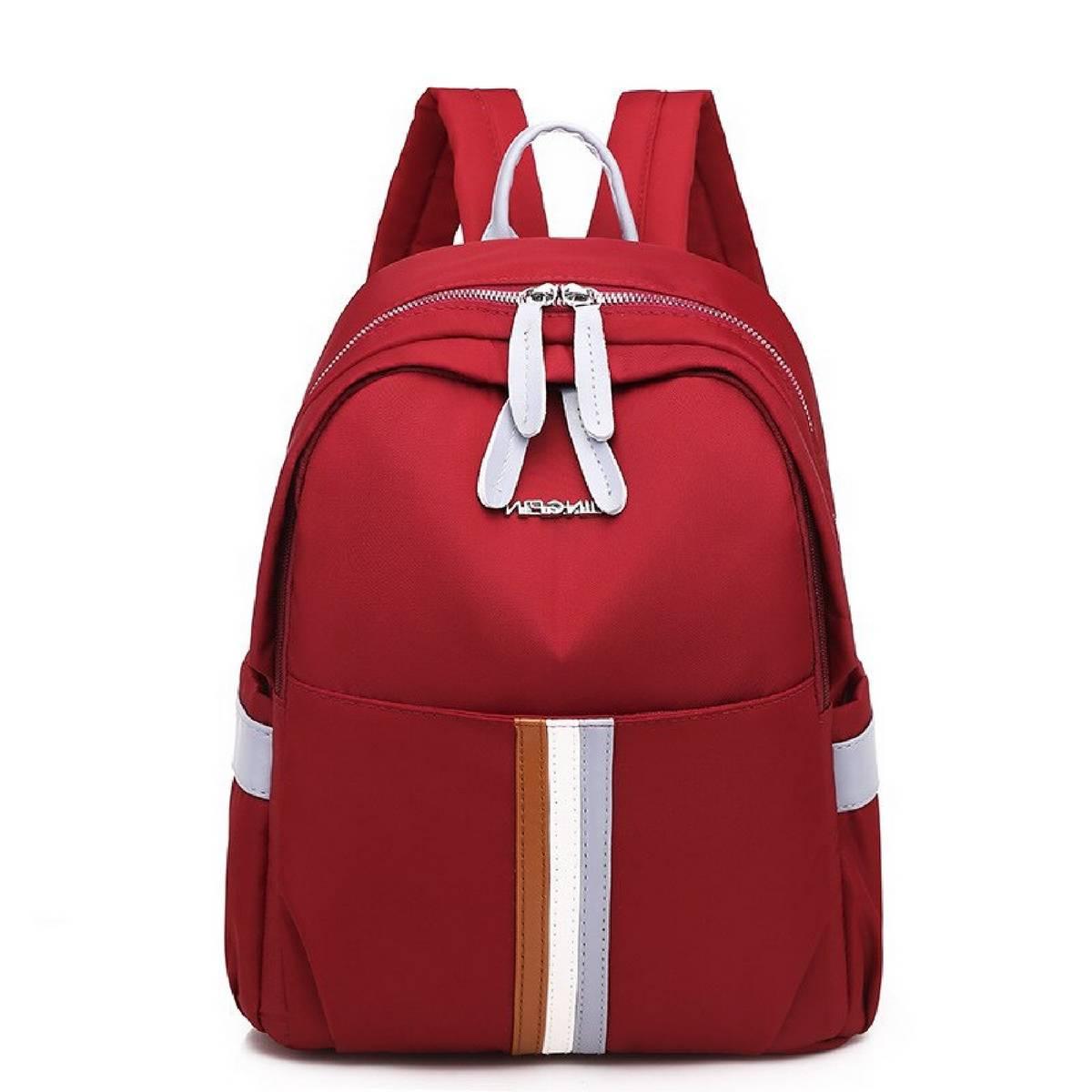 Red / Black Backpack for girls & Boys, Naylon stuff waterproof College, School, University Bags Laptop size