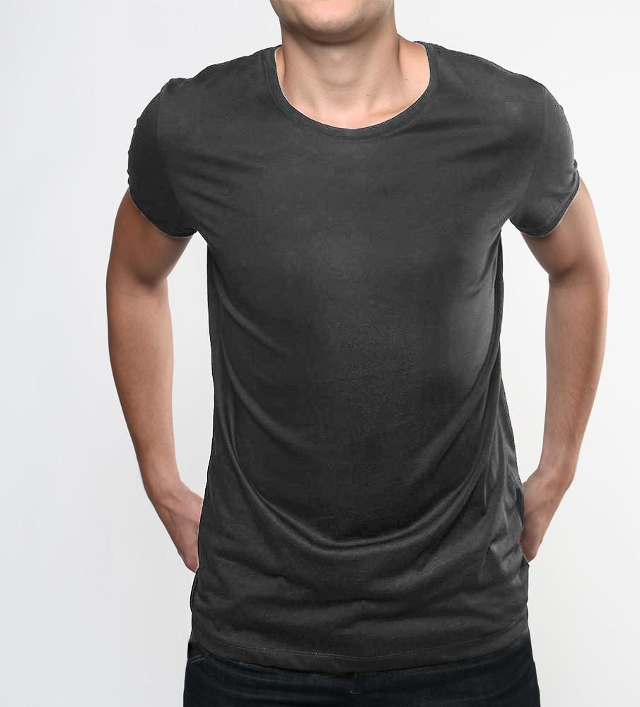 d172aa110fe Half Sleeves Round Neck Well Stitched Plain T Shirt - O Neck T Shirt - Black