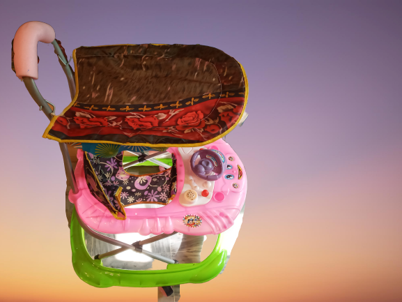 Baby Walker With Stroller & Roof for Kids