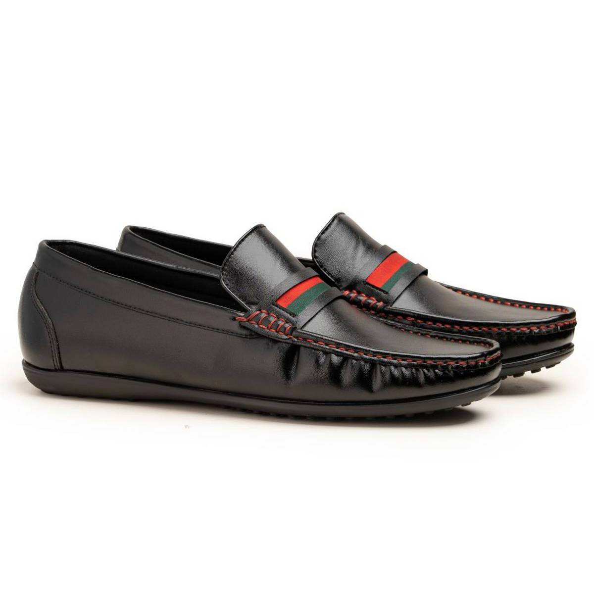 Logo shoes for men-Loafer shoes in Black-Logo 2021
