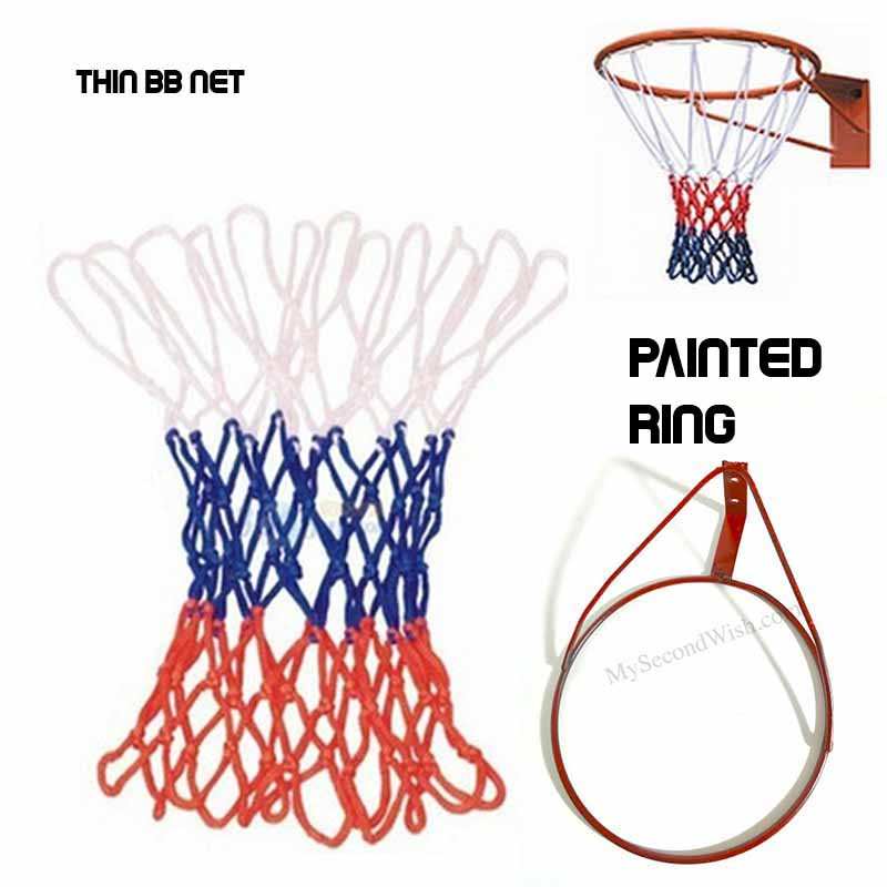 Basket Ball Ring with Net - Black