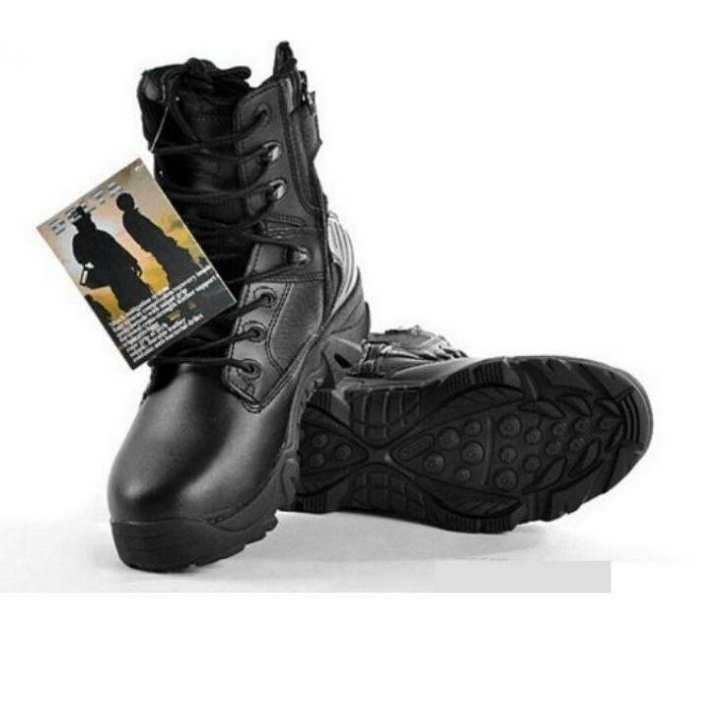 Delta Black Army Boots for Men