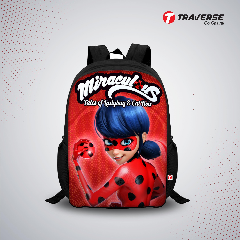 Miraculous Tales Of Ladybug & Cat Noir- Digitally Printed Kids Bag