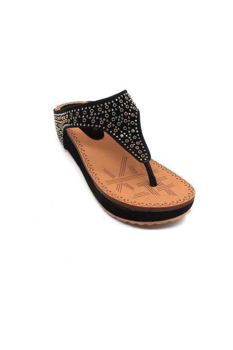 Black Slipper For Women 2327/200
