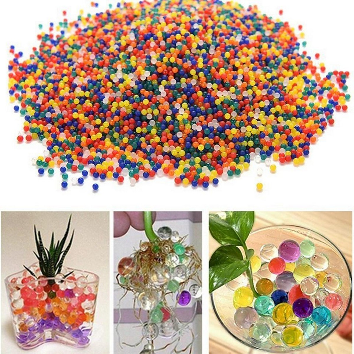 Pack of 5000 - Hydrogel Balls Growing Water Balls - Multicolor