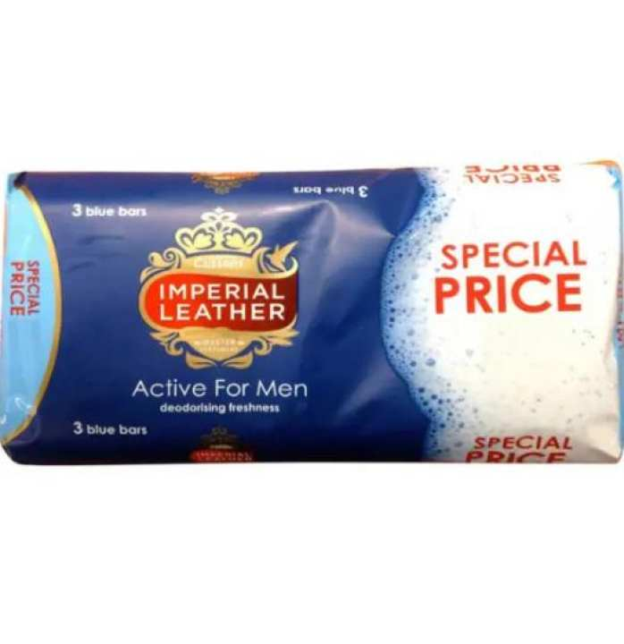 Imperial Leather Soap Active For Men, 3x100g