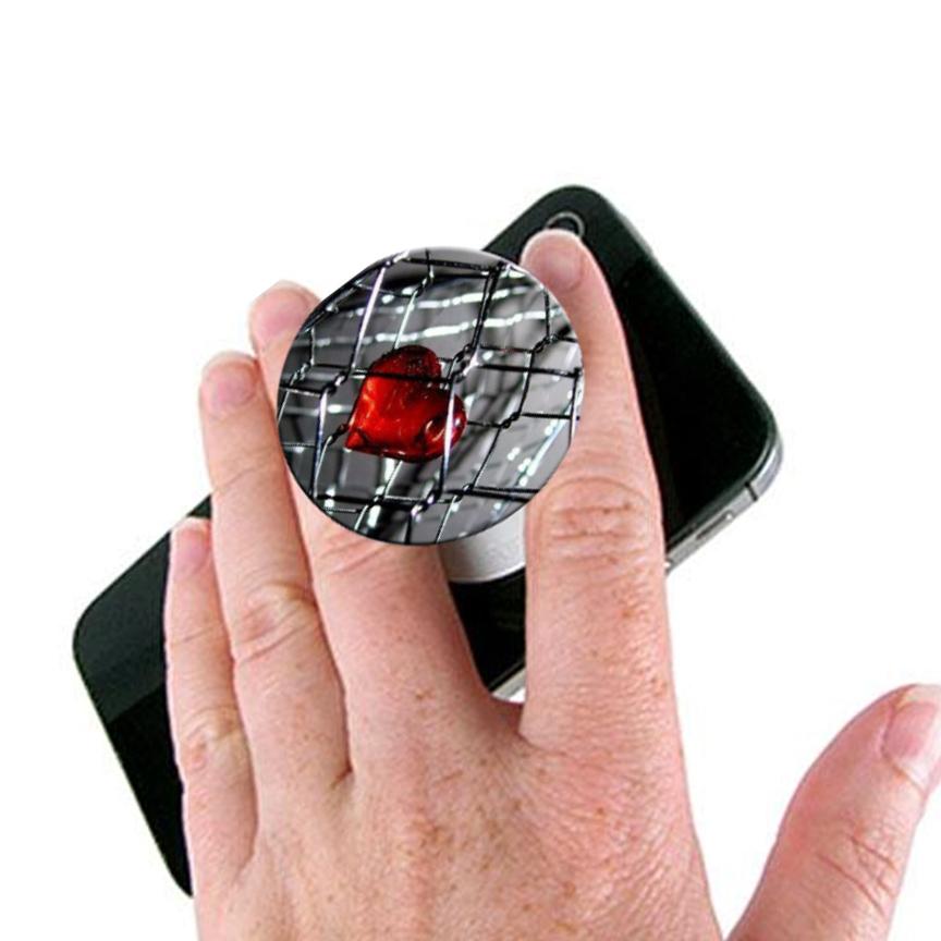 Herat Love Pop Socket Mobile Stand / Holder for Boys & Girls - Universal Pop Socket for Mobile Phone & Tablets & Cover - Grey