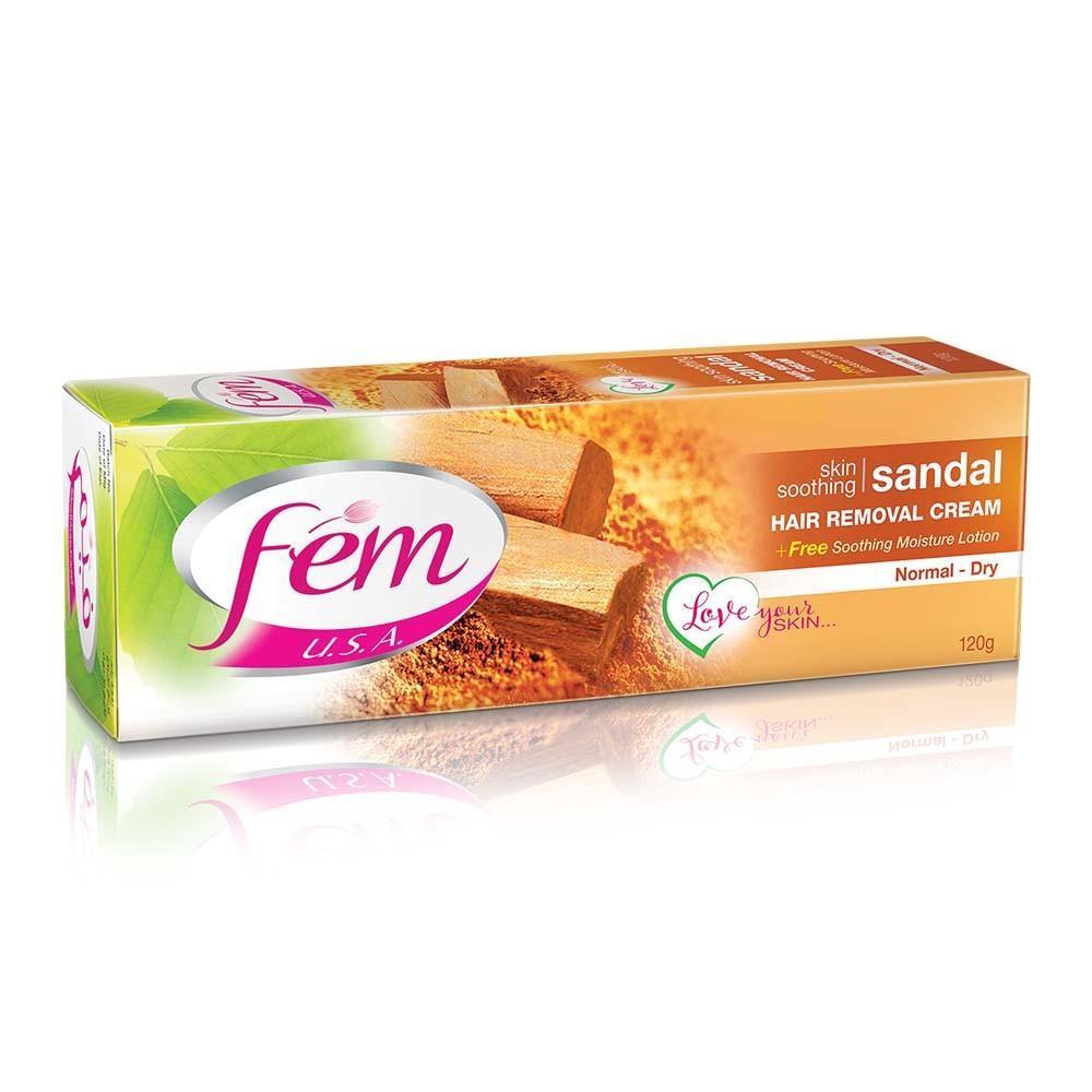 Fem Hair Removal Cream Sandal For Normal Dry Skin 120 Gm Buy Online At Best Prices In Pakistan Daraz Pk