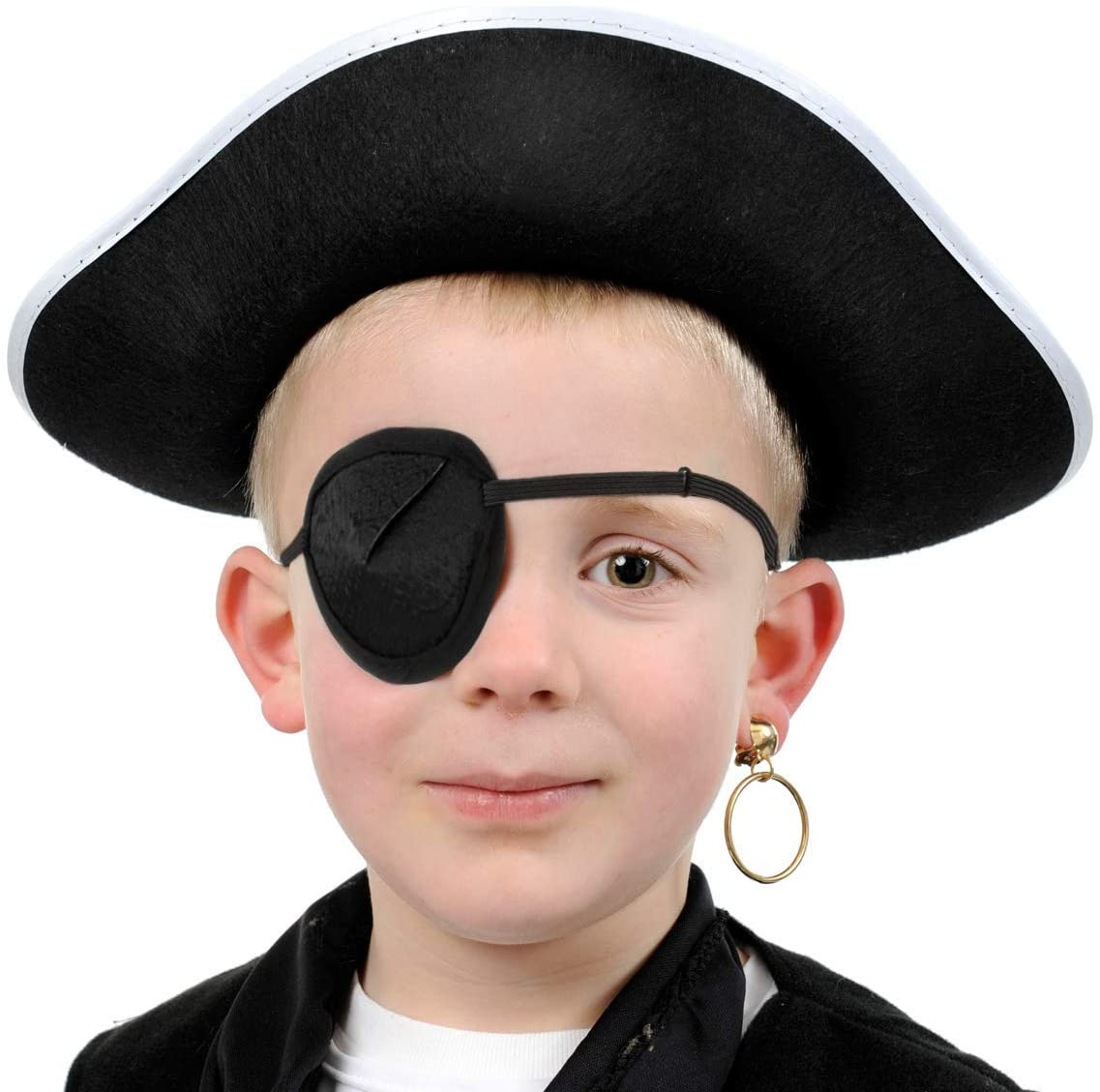 Pack of 1 supreme Quality Single Lazy Eye Patch Soft One Eye Patch Single Eye Mask   For Children or Adults  Great Pirate Costume Women or Men