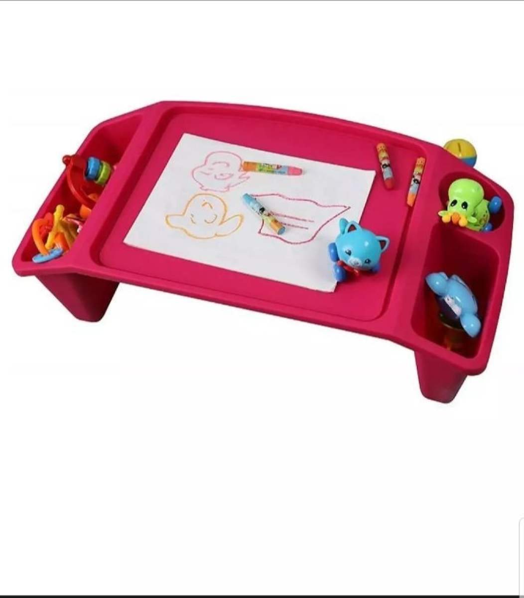 Multi Purpose Plastic Kids Table with Side Storage Boxes