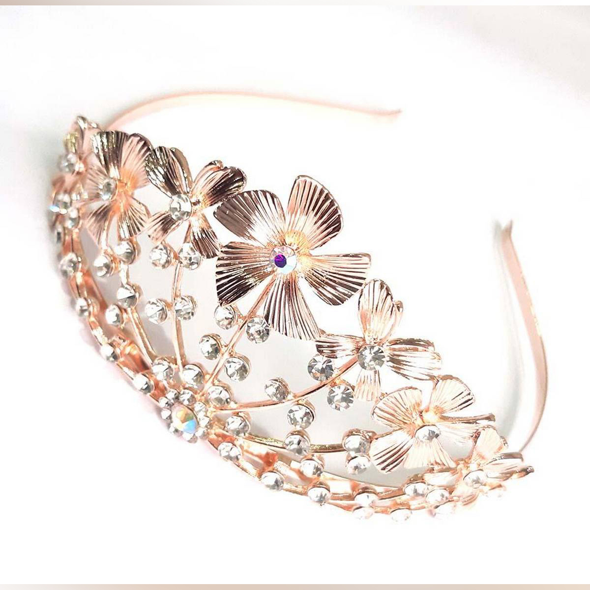 Crystal Wedding Tiara Women Bridal Hair Accessories Jewelry l Queen Headband Princess Hair Jewelry