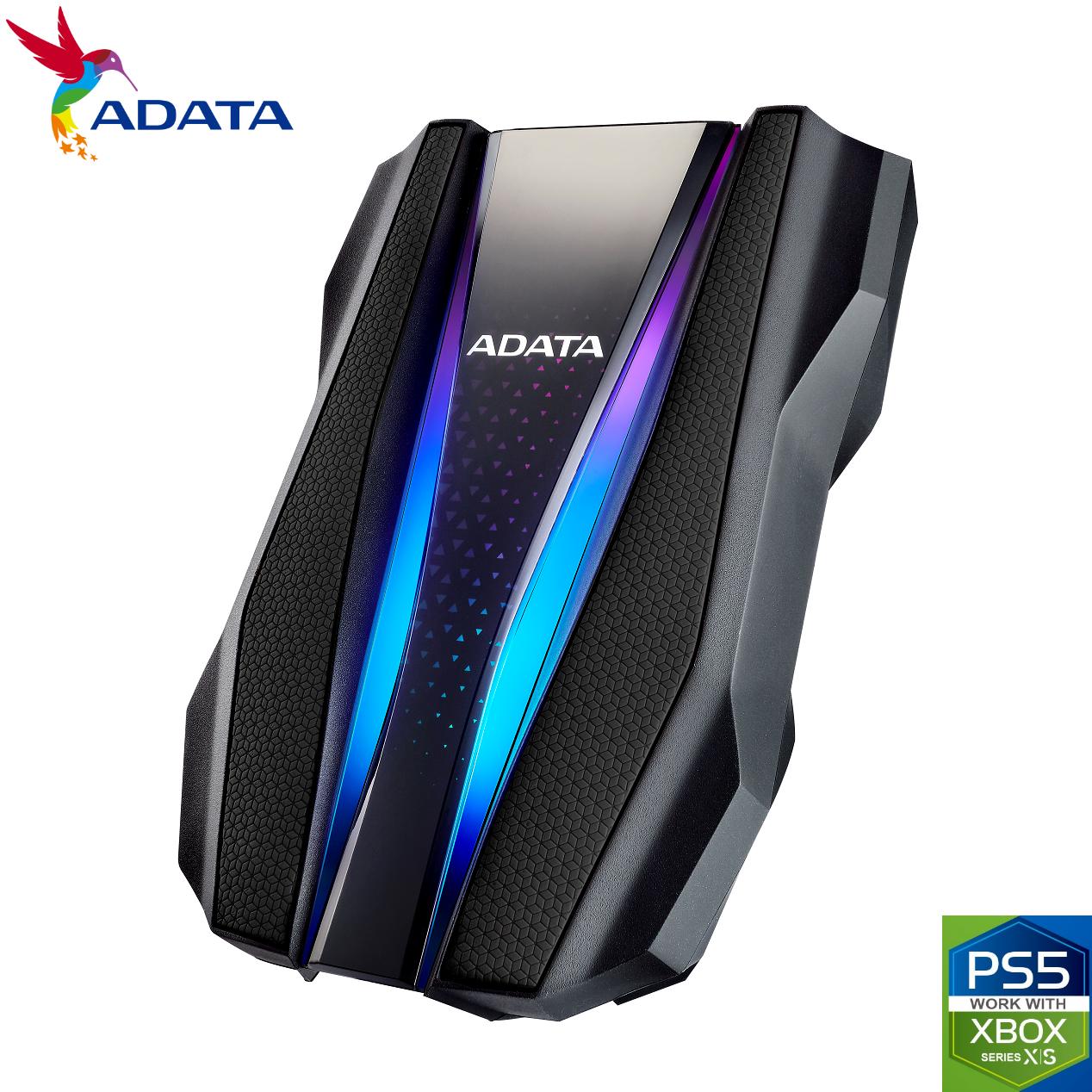 ADATA 1TB HD770G RGB USB 3.2 IP68 Waterproof Dropproof Dustproof External HDD Black