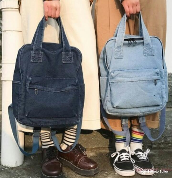 Simple Jeans School Bag For Your Children