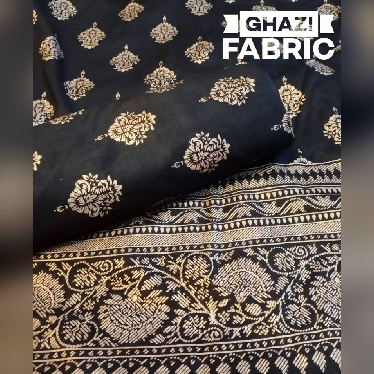 Ghazi fabric new linen collection shirt and DUPPTA printed fabric new linen design party dress primeum quality simple elegant trendy fabric  5.50/yards