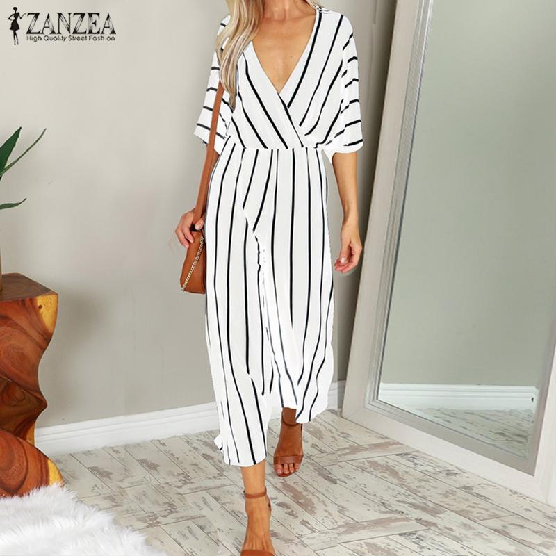 5612d43dc3 Product details of ZANZEA Women Long Bib Overalls Playsuit Romper Club  Party Wide Leg Jumpsuit