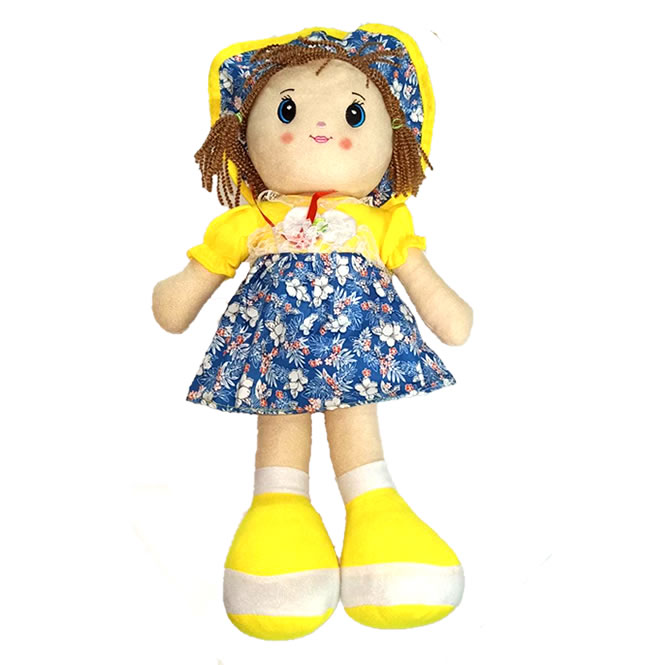 Cute 19 Inches Premium Stuffed Washable Doll for Girls