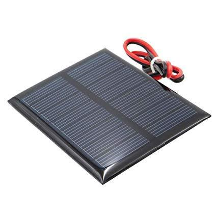 Set of 4 Pieces 1.5V 0.65W 60X80mm Micro Mini Solar Panel Cells for Solar Power Energy, DIY Home, Science Projects