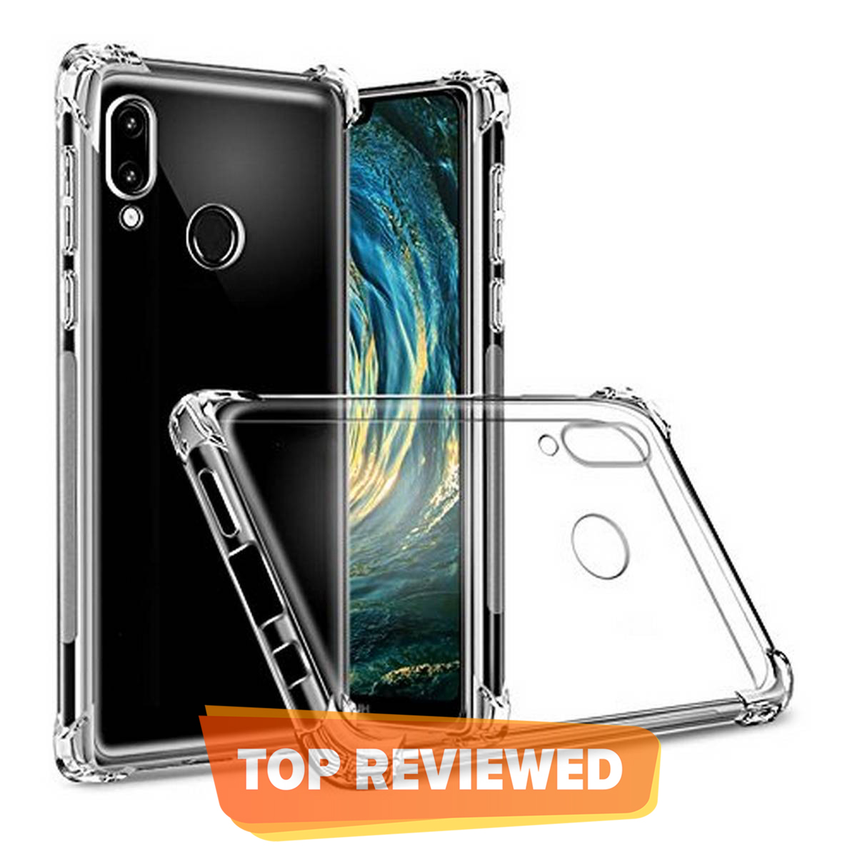 Huawei P20 Lite Ultra antishock Soft Silicone Transparent Protective Cover