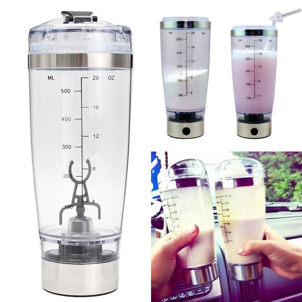 The old tree Fashion Portable 550 ML Protein Shaker Tornado Automatic  Mixing Cocktail Mixer HandHeld Battery Bottle Cup