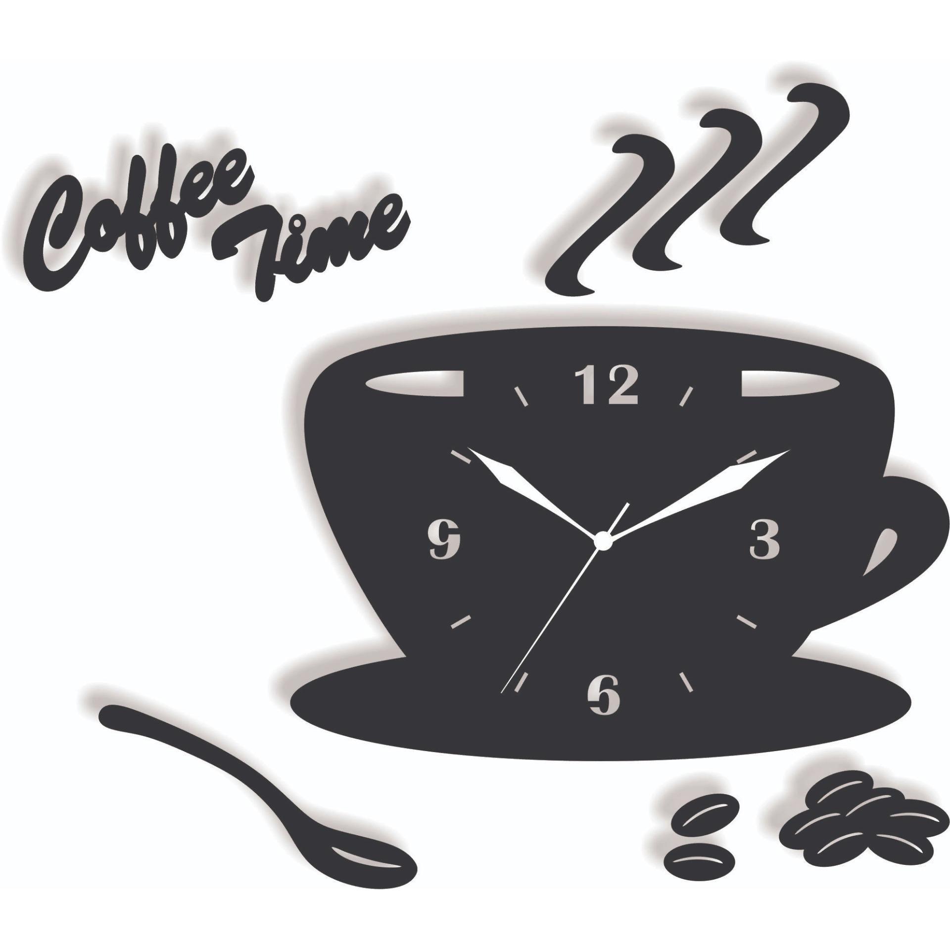 Coffe Time Kitchen Clock 3d Modern Laser Cut Wooden Wall Clock Buy Online At Best Prices In Pakistan Daraz Pk