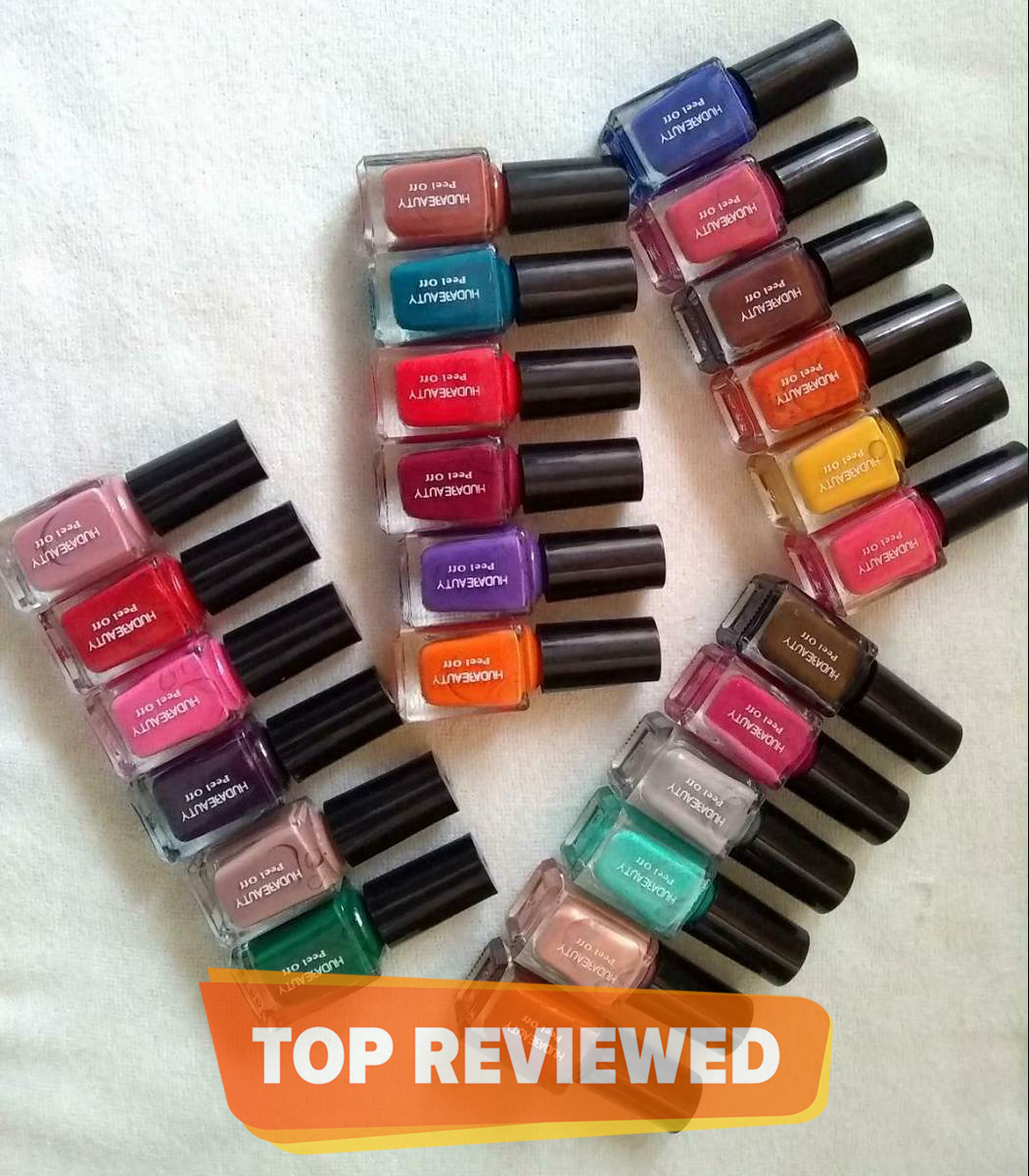 High Quality Pack of 6 Peel Off Nail Polish - Multicolor | For women | Girls | Easy to Use