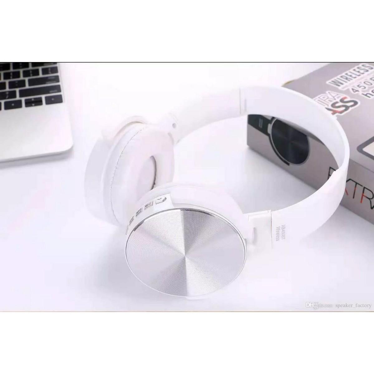 New head phone 450 BT Extra Bass Wireless Bluetooth Headphone With Good Quality Sound- Black